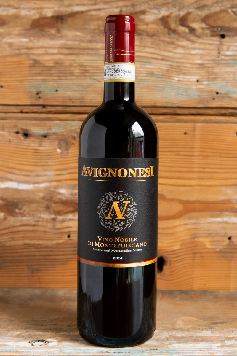 Avignonesi Vino Nobile di Montepulciano 2014 - Retail: $16.95 | Sale $15.25This wine opens with subtle aromas of red-skinned berry, Mediterranean herb, dark spices, and a hint of violet. On the sleek light-bodied palate, this elegant style of Vino Nobile shows polished tannins and fresh acidity with an undertone of Marasca cherry, raspberry, and clove. Drink now through 2023.100% Sangiovese92 Points James Suckling90 Points Wine Spectator