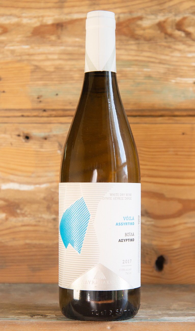 Lyrarakis Assyrtiko Voila 2017 - Origin: GreeceRetail: $19.95 | Sale $17.95From a small family winery who discovered the potential of east Crete in the 1970s, this single vineyard Assyritiko will not disappoint. Crisp apple, stone fruits, and hints of ginger welcome you into the glass. The palate provides layers of textures with a rich mouthfeel that is supported by minerality and a natural acidity that leads into a long, fruity, and uplifting finish.100% Assyrtiko