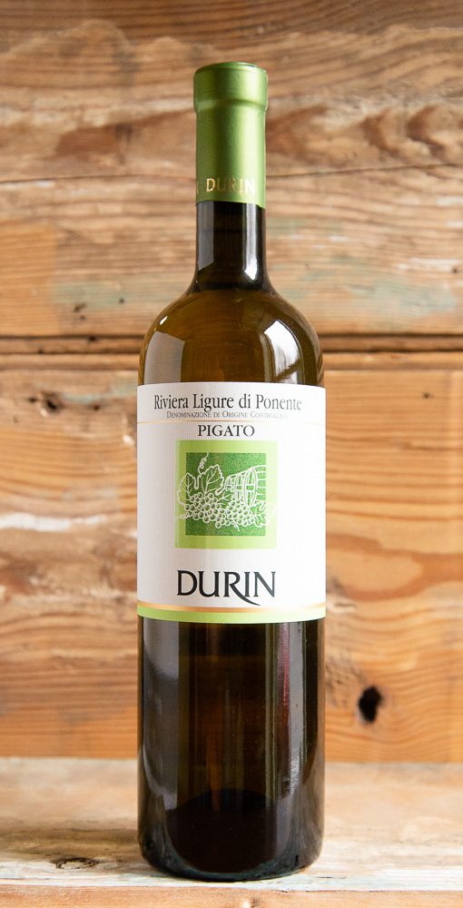 "Durin Liguria Pigato 2017 - Origin: ItalyRetail: $17.95 | Sale $16.15Pigato is considered the ""prince"" of Ligurian white wines, a coastal grape that is the natural pair with Mediterranean cuisine and fresh seafood. Originally from Greece, the Pigato grape made its way to Liguria in the 1600s, and is believed to be a cousin of the white grape Vermentino. Today it is almost exclusively associated with and cultivated along the Ligurian Riviera on the northwest coast of Italy, not far from the cliffs and wandering paths of Cinque Terre. Aromas of white peaches, honey, and wildflowers welcome you into the glass. Flavors of citrus and white pepper dominate the palate with hints of fresh almonds and stone fruits. Intensely perfumed, medium-bodied and fresh on the tongue, Pigato-based wines are anobvious pair with local Ligurian seafood dishes.100% Pigato"