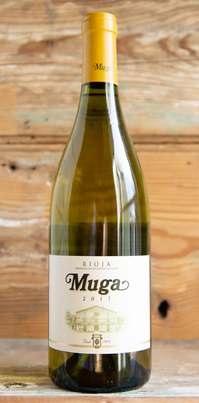 Muga Rioja Blanco 2017 - Origin: SpainRetail: $19.95 | Sale: $17.65A lemon-yellow colored wine with green glints which reveal its youth. On the nose, you will find clean, floral notes reminiscent of almond blossom, with accents of lime and toasted nuances. On the palate the wine is fresh with excellent acidity and a long finish, wrapping the mouth with reminders of Golden Delicious apples. It's a perfect match for vegetable based dishes, rice, shellfish, tapas and more.90% Viura, 10% Malvasia92 Points James Suckling90 Points Wine Spectator