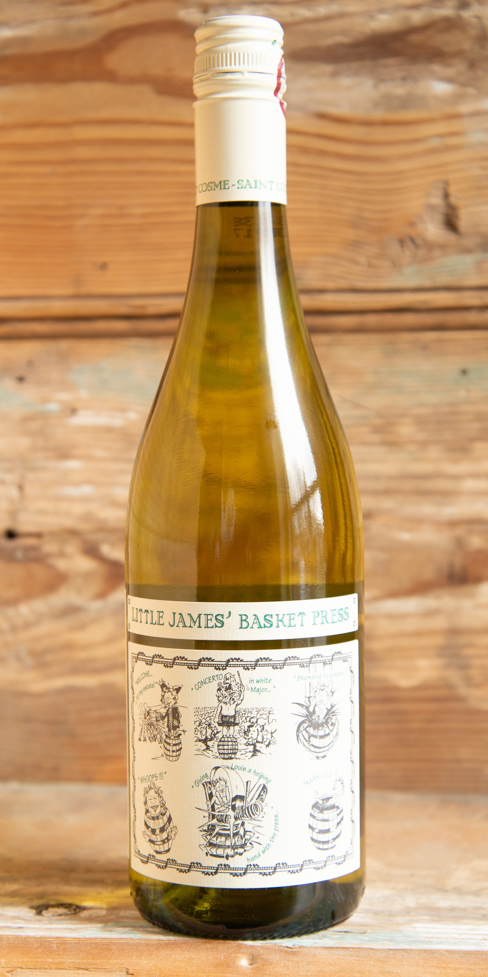 Saint Cosme Little James Basket Press Blanc 2017 - Origin: FranceRetail: $16.95 | Sale $14.35Château de Saint Cosme is the leading estate of Gigondas and produces the benchmark wines of this appellation. The property has been in the hands of the Barruol family since 1570. This unconventional blend of Sauvignon Blanc and Viognier can be used at the table like a crisp Pinot Grigio or a zippy Marlborough Sauvignon Blanc. The Sauvignon Blanc brings acidity to the blend while Viognier provides fleshiness and attractive notes of stone fruit and flowers. Blending the two varieties results in an aromatic and fresh-tasting wine with aromas and flavors of peach blossoms, fennel, apricots, grapefruit, lychee fruit, and mangos. Try this wine with garden salads, ceviche, and grilled fish.50% Viognier, 50% Sauvignon Blanc