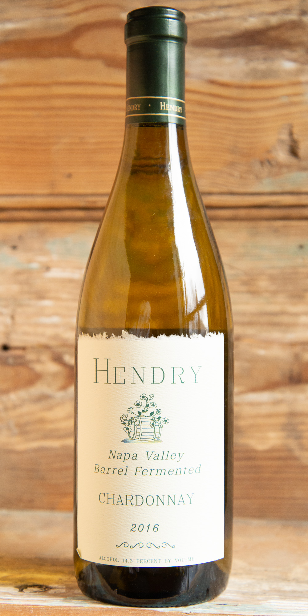 Hendry Napa Valley Barrel Fermented Chardonnay 2016 - Origin: CaliforniaRetail: $39.95 | Sale: $35.95The Hendry Vineyard is located on benchlands just west of the town of Napa. The Chardonnay vines grow on thin, stony soils between 200 and 300 feet above sea level. Morning fog and afternoon breezes from the San Pablo Bay moderate the climate, giving long, warm summer days and cooler nights.This barrel-fermented Chardonnay is whole-cluster pressed and aged in French oak barrels for 11 months. It's a beautiful golden yellow color in the glass with golden apple and spice aromas. The palate is soft, medium-weight, with layers of tangy fruit, spicy oak, and apple peel on the finish. An ideal pairing with salmon, Manchego cheese, or white pizzas. This wine's food pairing versatility and acidic brightness make friends for it on both sides of the Chardonnay divide.100% Chardonnay