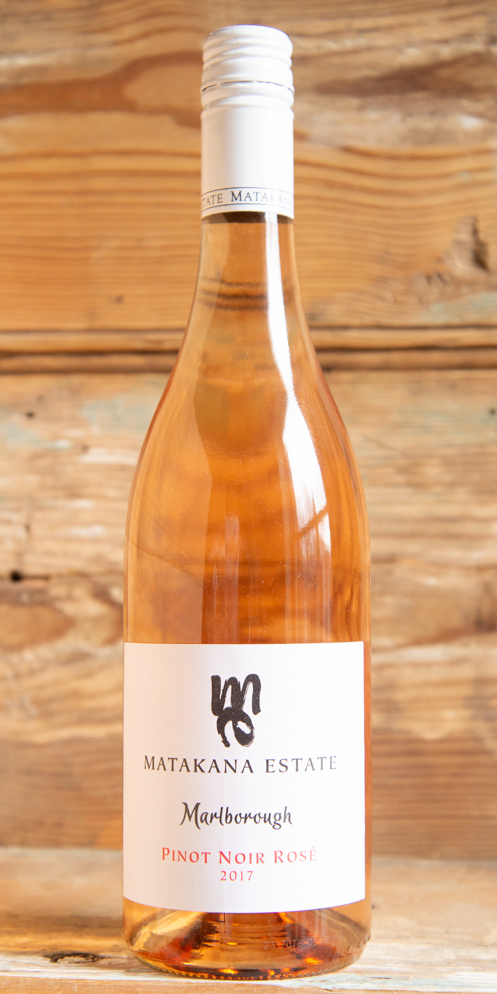 Matakana Estate Pinot Noir Rose 2016 - Origin: New ZealandRetail: $18.95 | Sale: $17.05Grapes are harvested from a single vineyard in the Upper Wairau sub-region, a narrow valley inland from the majority of the Marlborough vineyards, where daytime temperatures tend to be warmer and nights cooler. Lifted aromas of strawberries and hints of rose petal lead in berry characters on the palate. Finely poised acidity keeps the texture dry while adding a savory finish.100% Pinot Noir