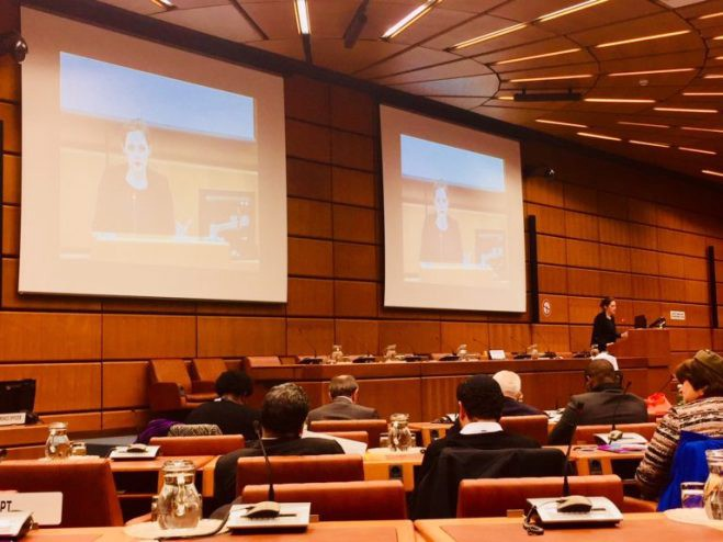 IHEU Director of Advocacy, Elizabeth O'Casey, addresses a UN conference in Vienna on the Fez Action Plan