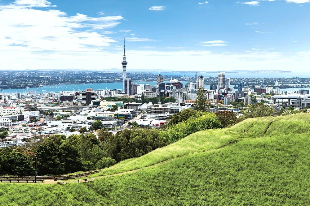 View from Mt Eden, Auckland