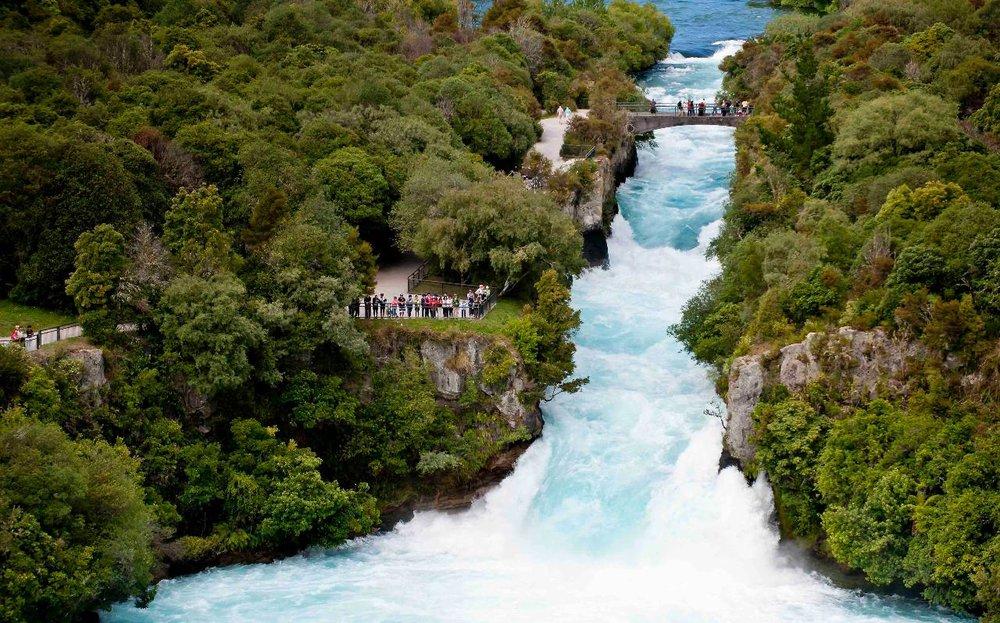 Huka Falls, Taupo, Waikato.