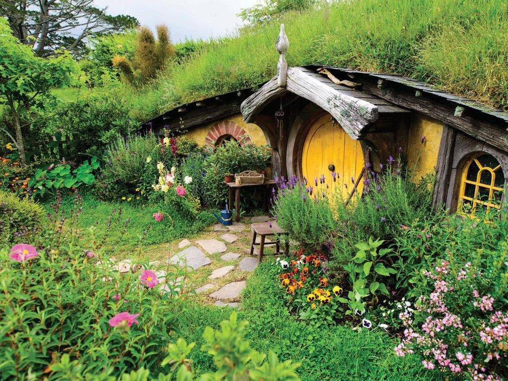 A visit to the Shire from the Lord of the Rings movies. Hobbiton, Matamata, Waikato.