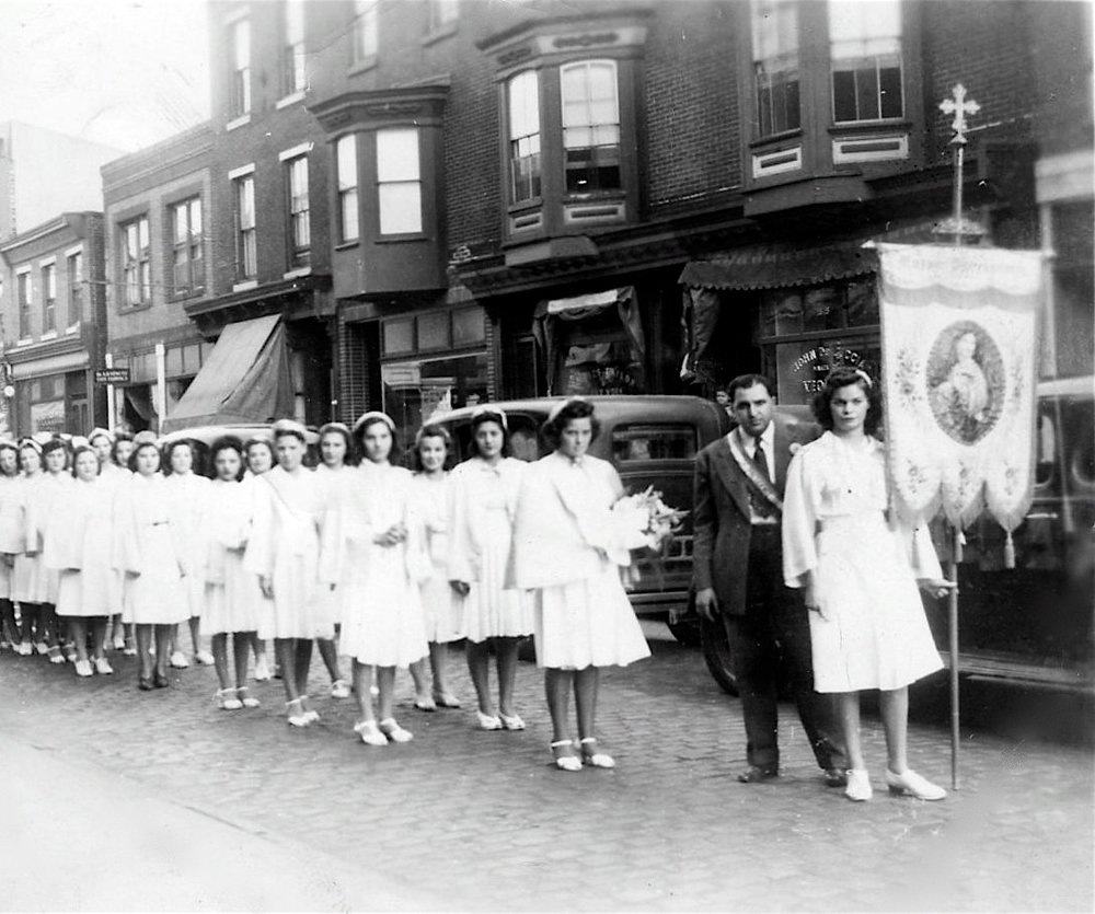 13 - 1920 procession through the parish streets.jpg