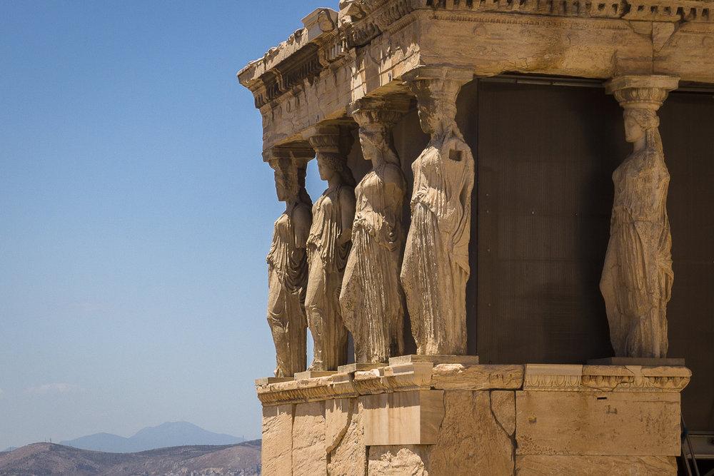 Les Caryatides, L'Acropole d'Athènes, Guillaume Cavalli, mai 2013