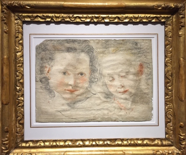 Étude de deux têtes, École florentine, env. 1640, Galerie Christopher Bishop fine art, Salon du dessin 2019, Paris