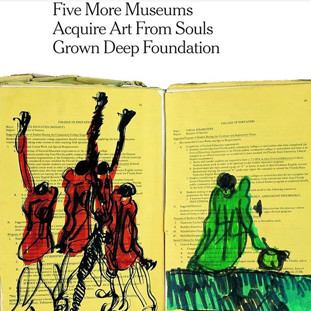 The Souls Grown Deep Foundation doing excellent work in getting self taught African American artists of the South represented in US museums. The foundation was instrumental in helping The Hughes Gallery bring artists such as Thornton Dial and Mose Tolliver to Australia. These artists remain represented in the Kunstverein stockroom and were exhibited as recently as October in 'Outside America'. . . . . . #soulsgrowndeepfoundation #kunstverein #thehughesgallery #nytimes #thorntondial #moset #outsiderart