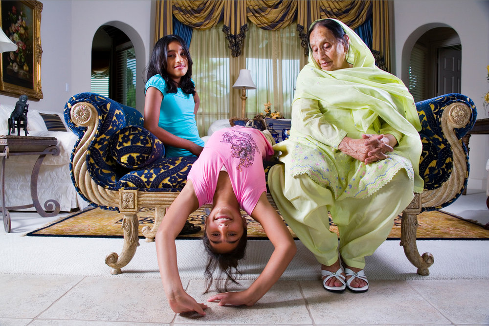 Pakistani Grandmother and her American Born Granddaughters
