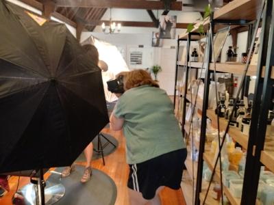Photographing at Amalfi Salon.
