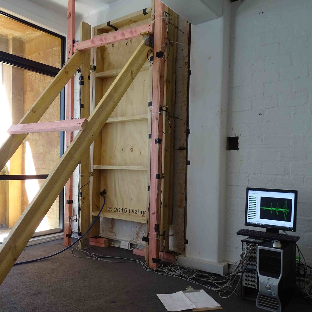 OUT-OF-PLANE PROOF TESTING OF MASONRY INFILL WALLS   Structures (2018), 15, 244-258  Two-way out-of-plane flexure, boundary restraints and presumed 'arching' action from the building frame substantially improved the out-of-plane load-carrying capacity of tested infill walls compared to one-way vertical out-of-plane flexure. The effects of simulated in-plane damage on the out-of-plane capacity were also investigated.