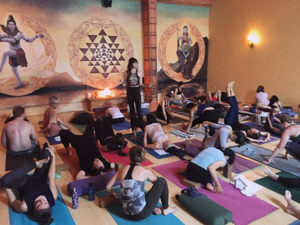 Popular yoga class at Divinitree Santa Barbara