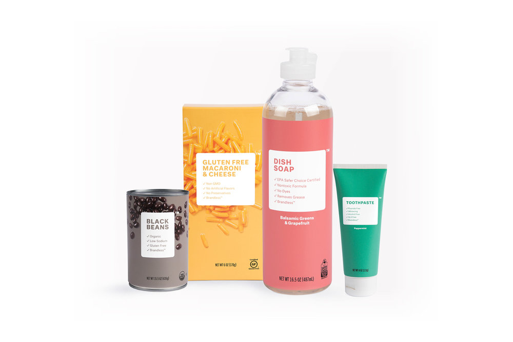 """brandless - CEO Tina Sharkey has created an online marketplace of """"brandless"""" goods, each item only costing $3 and also committing to providing only high-quality, safe products."""
