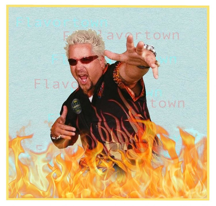 GUY FIERI'S ICONIC FLAME SHIRT HAS FINALLY BECOME COUTURE - By Katrina Froelich
