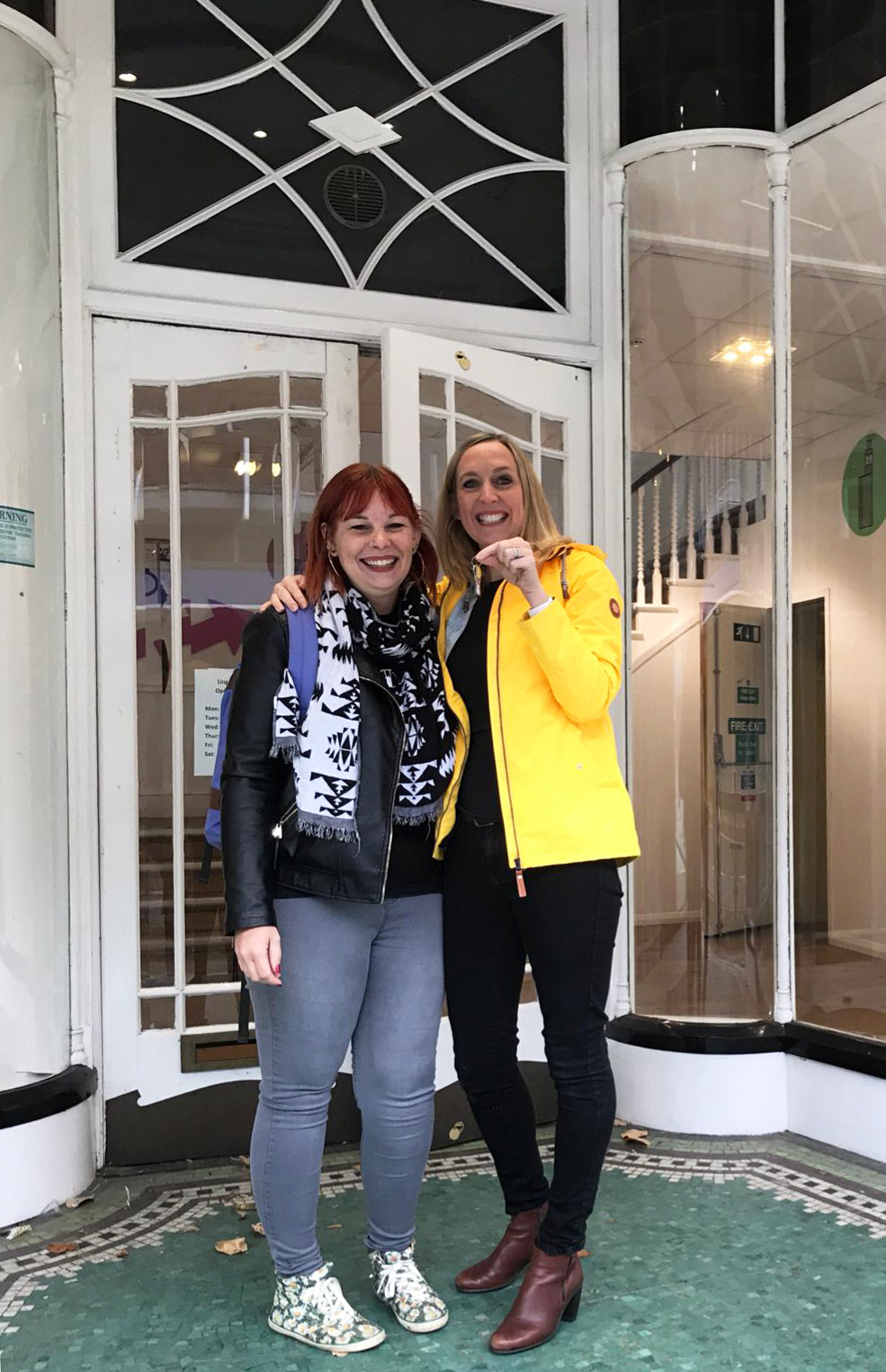 Becca and Nic received the keys to The Beehive- October 2018