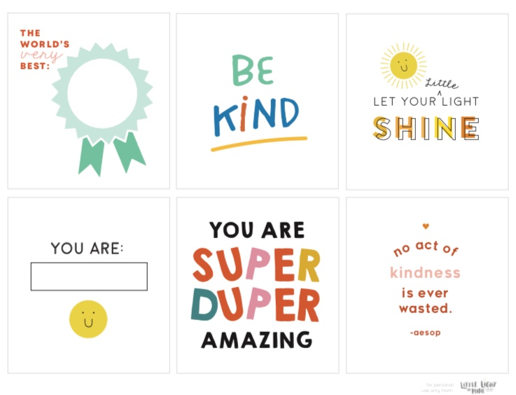 Click the link below for our kindness cards printable!