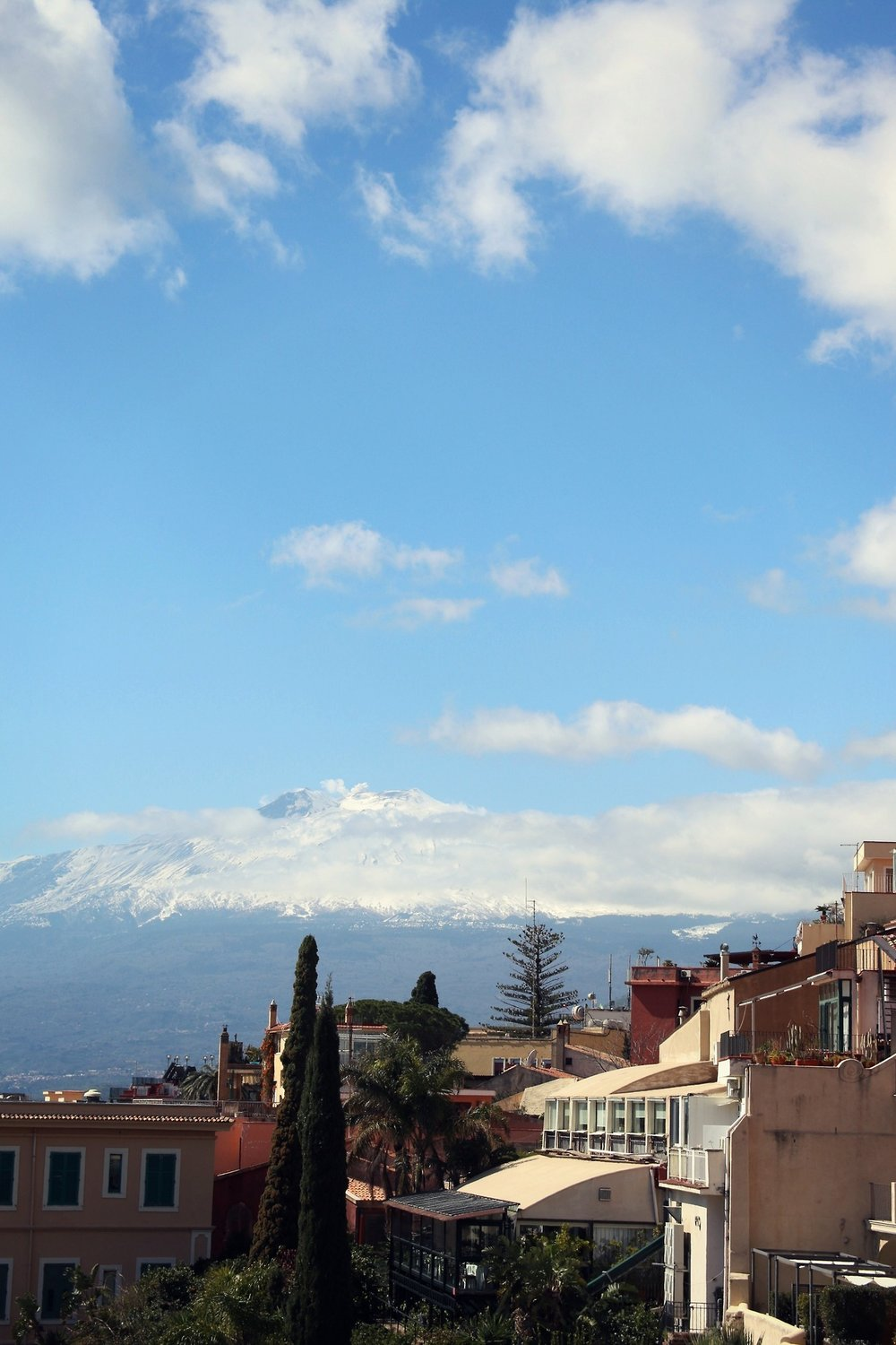 Just like from many places in Sicily, you can see Mount Etna from here!
