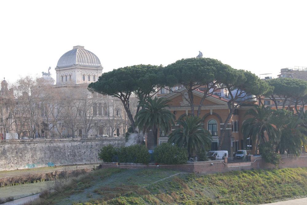 Tiber Island is home to a hospital