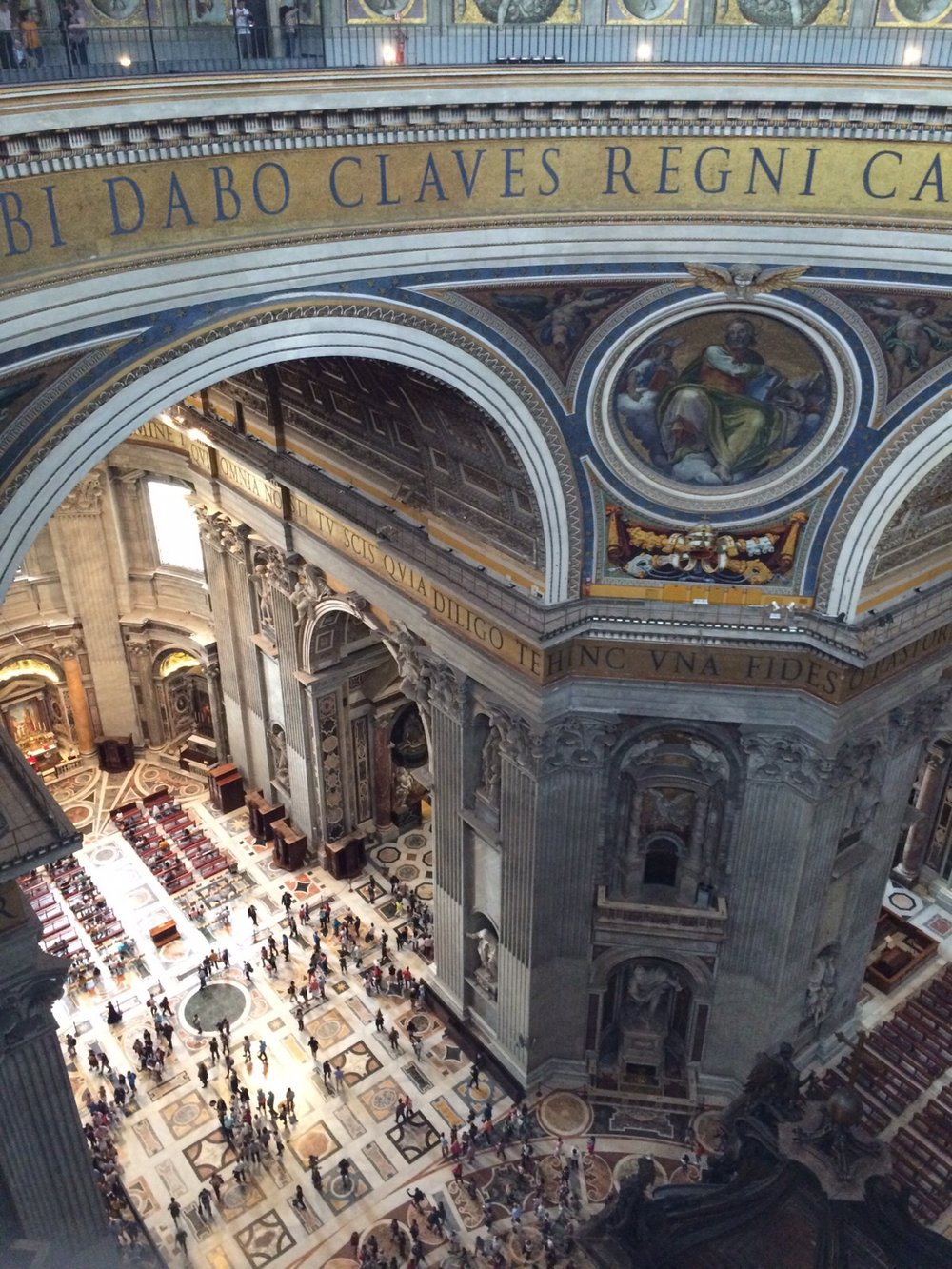 view over the ground floor of St Peter's Basilica