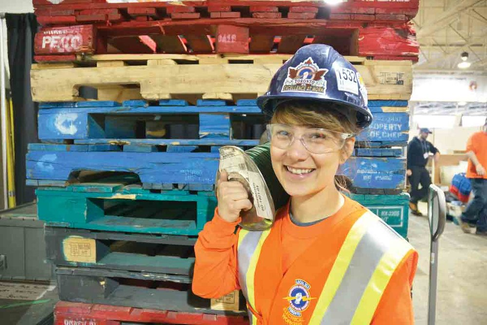 Alisha Kelloway's apprenticeship training allows her to earn while she learns – on her way to certification as an electrical worker. SUPPLIED