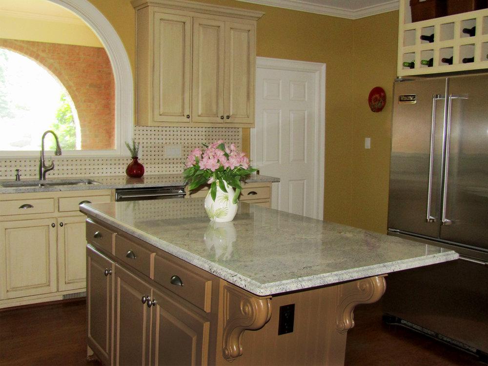 mediterranean Kitchen remodel by interior designer BK Designs from Atlanta Georgia