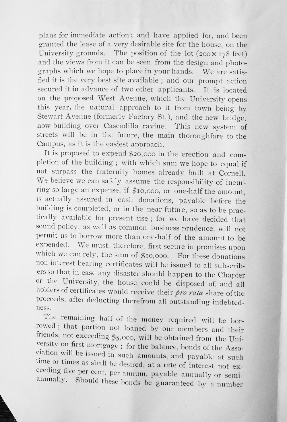 Circular re New House, Page 2