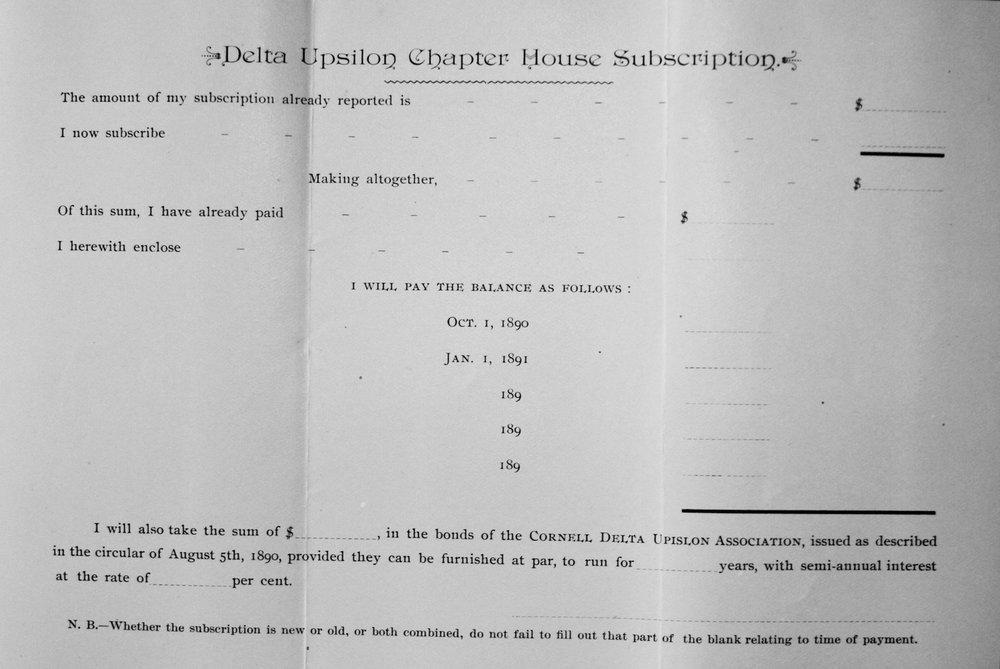 Pledge Form 1890
