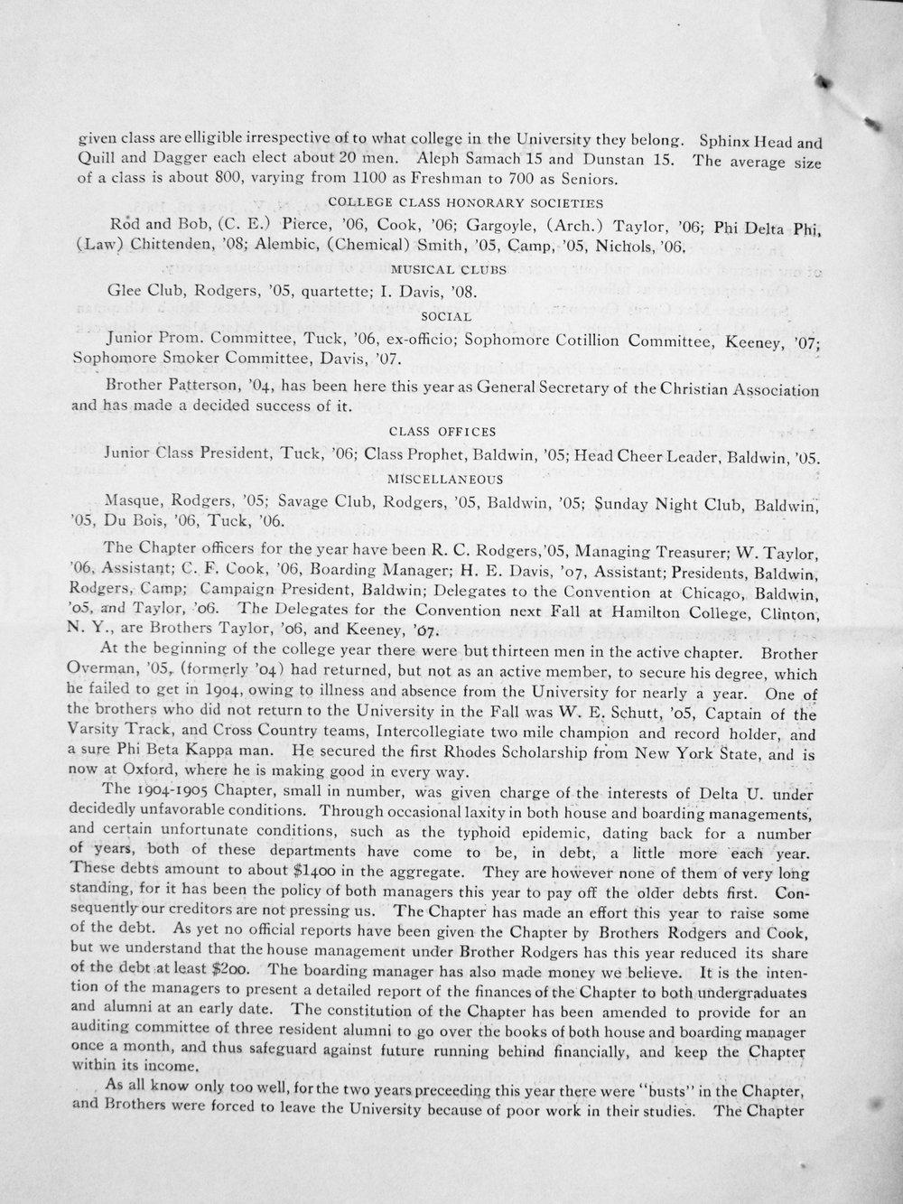 Alumni Circular 1905, P. 2