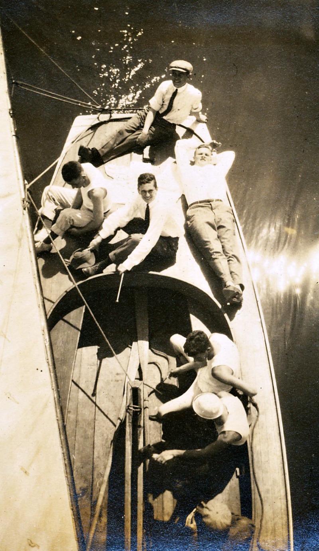 On Telluride's Boat   Circa 1915
