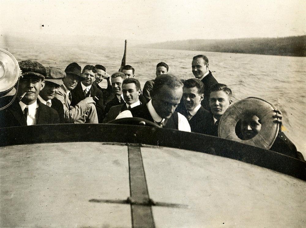 On Telluride's Boat | Circa 1915