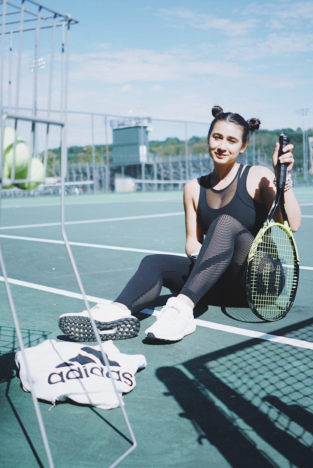 adidas women fitness model adidas running tennis athleisure lululemon sports bra leggings