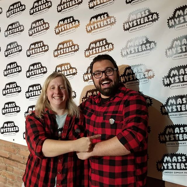 Great minds dress alike. . . . #masshysteria18 #masshysteria #improvcomedy #themagalen #stufftodoincleveland #improvfest #createdbywomen #femalerun #cleveland