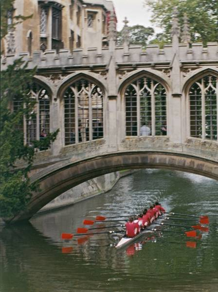 December 2001, M1 row under the Bridge of Sighs (From:  The Eagle Magazine).