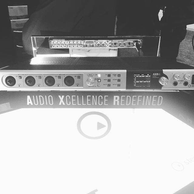 The axr4t is the brand new interface from @yamahamusicusa  and @steinbergmedia . It comes loaded with 4 @rupert_neve preamps. I can't wait to get my hands on one!