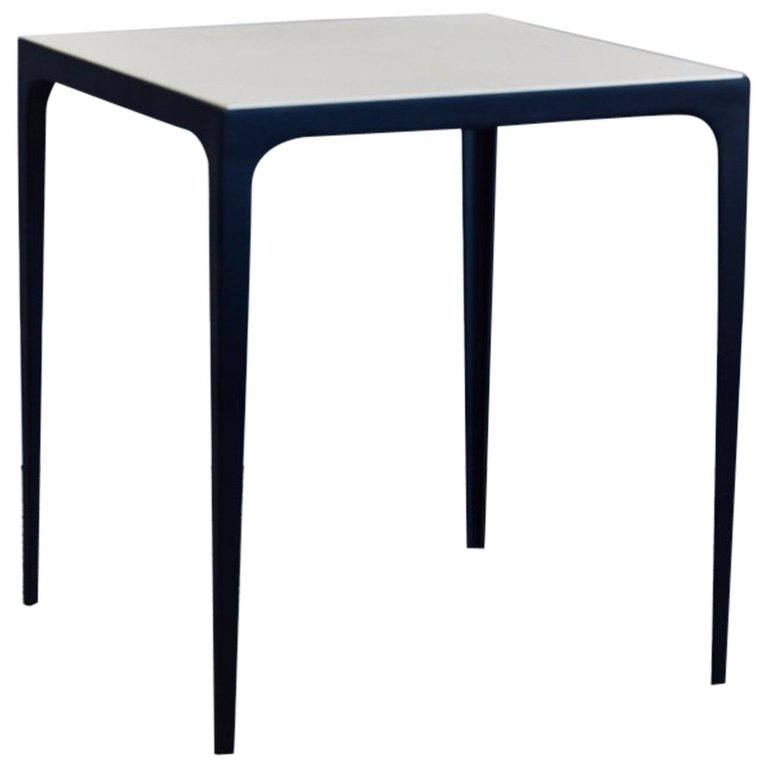 Exceptionnel U0027Esquisseu0027 Parchment And Wrought Iron Side Table