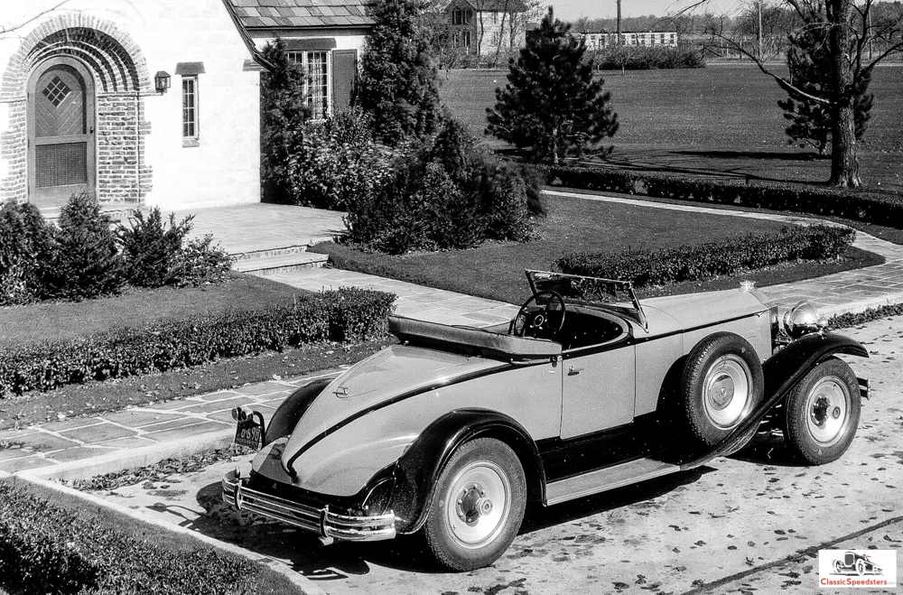 1930 Packard 734 Speedster Runabout courtesy Kanter Brothers collection.