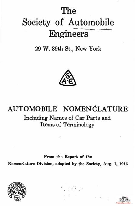 SAE Nomenclature Report courtesy Hathi Trust Digital Library
