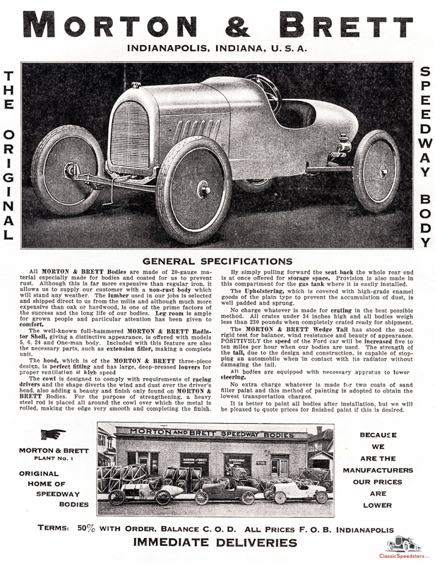 Morton & Brett Speedway Body ad courtesy Larry Sigworth collection