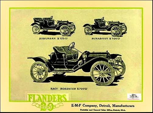 1910 Flanders 20 model types
