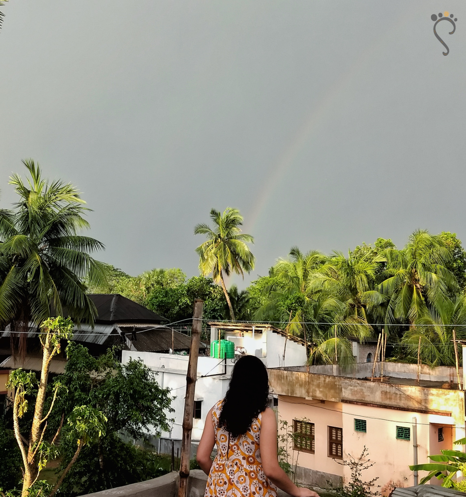 Look closely, you'd spot dual rainbows! Medinipur, 2018.