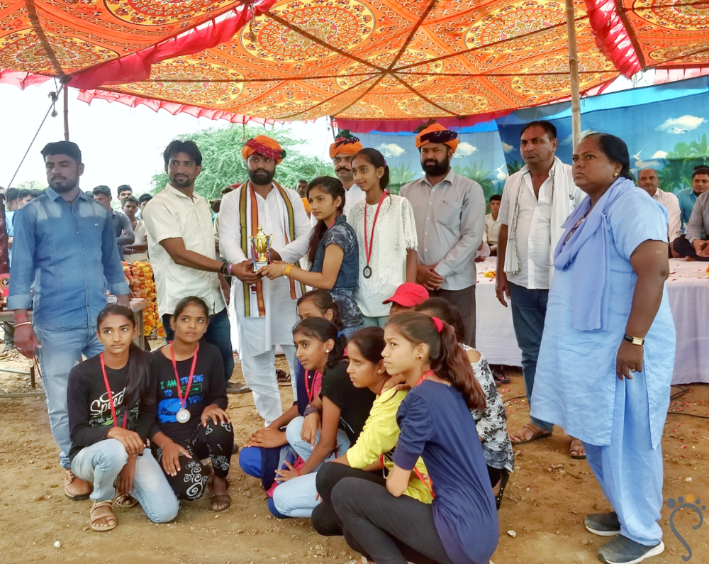 Team Tilonia won! U-14 District Level Kabaddi Match, Ajmer District, 2018.