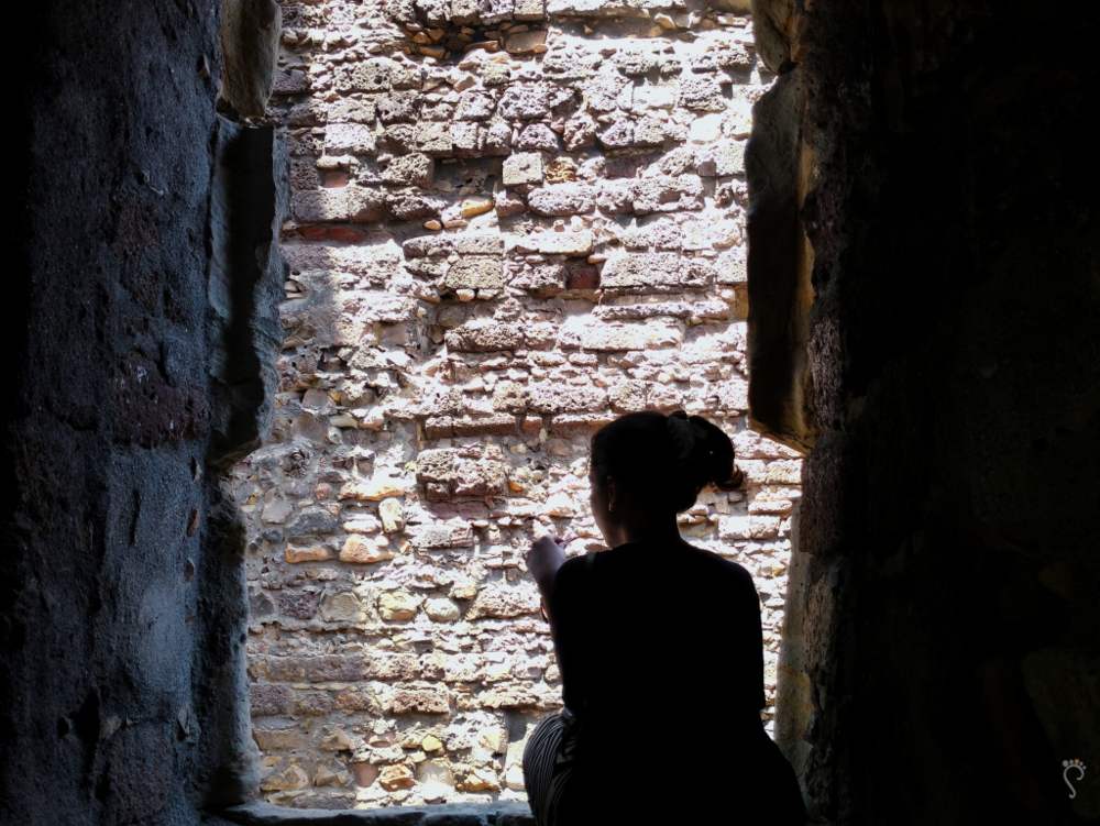 In the ruins of Vasai Fort.