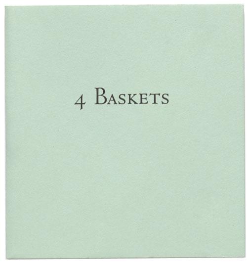 4 Baskets , by Ian Hamilton Finlay with Kathleen Lindsley, 1990. (© 2018 Estate of Ian Hamilton Finlay).