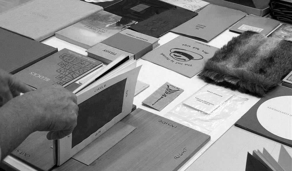 British Artists Books  collected during the period 1986-2000 when Déirdre Kelly was director of Hardware Gallery, London. (Image ©  Déirdre Kelly ).