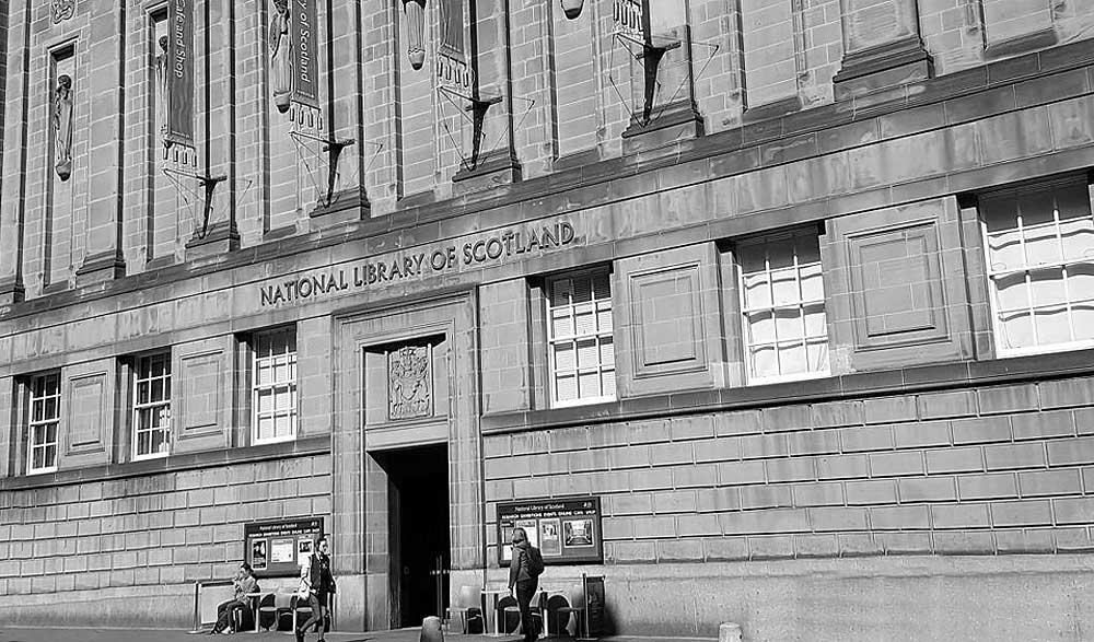 National Library of Scotland's imposing George IV Bridge Building, Edinburgh.
