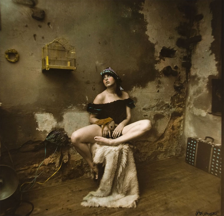 Jan Saudek ,  Olga With A Bird Cage , 1978 (© Jan Saudek, courtesy Taschen)