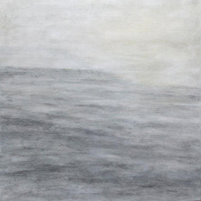 Jane Rushton ,  sastrugi, towards the light , 100 x 100 cm